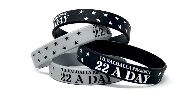 22 a day wristbands by Til Valhalla Project organization.