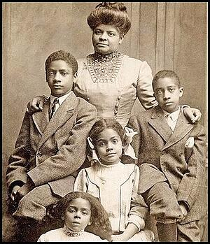 Ida B. Wells and her children.