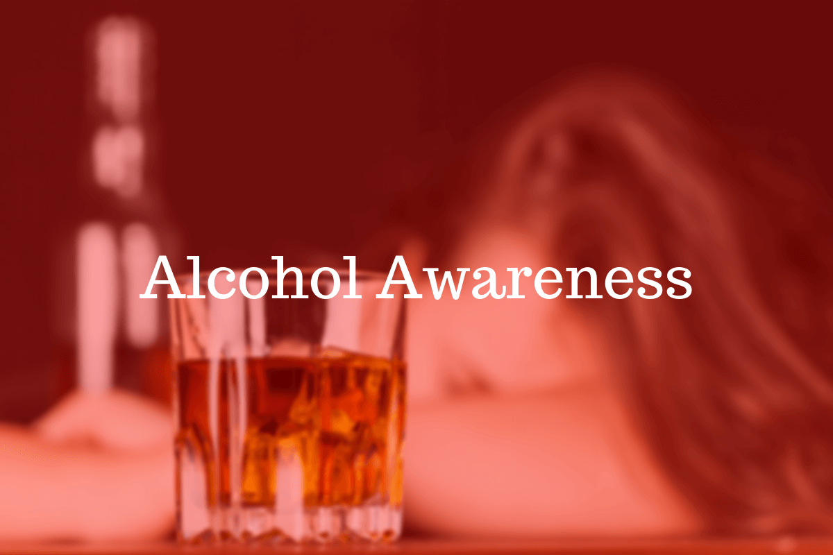 A glass of alcohol. Help build awareness by wearing wristbands.