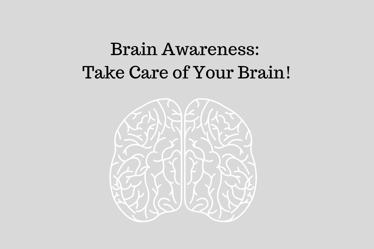 Image of a brain. Help build brain health awareness by wearing wristbands.