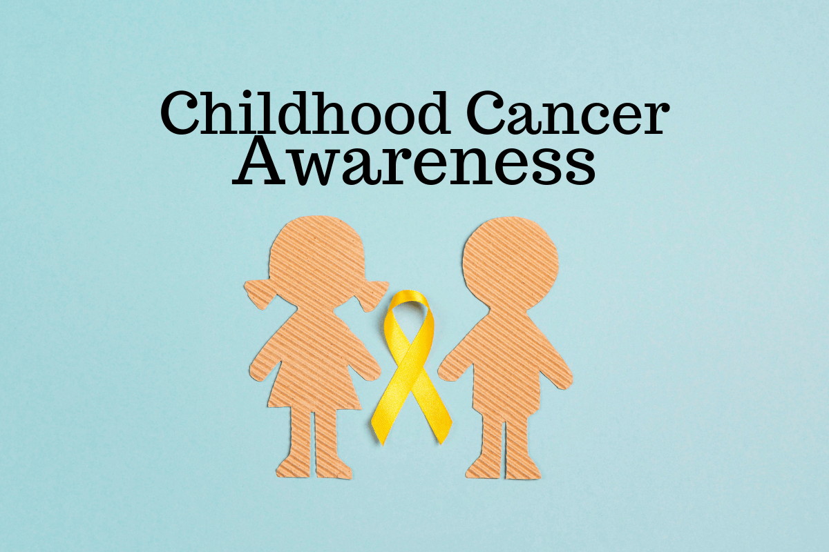 Yellow ribbons representing childhood cancer awarenesschildhood cancer awareness