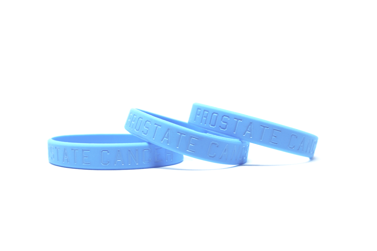 blue debossed wristbands