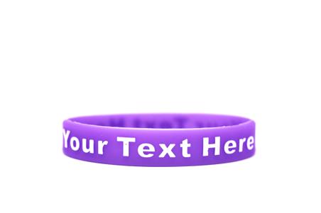 lupus awareness purple wristband.