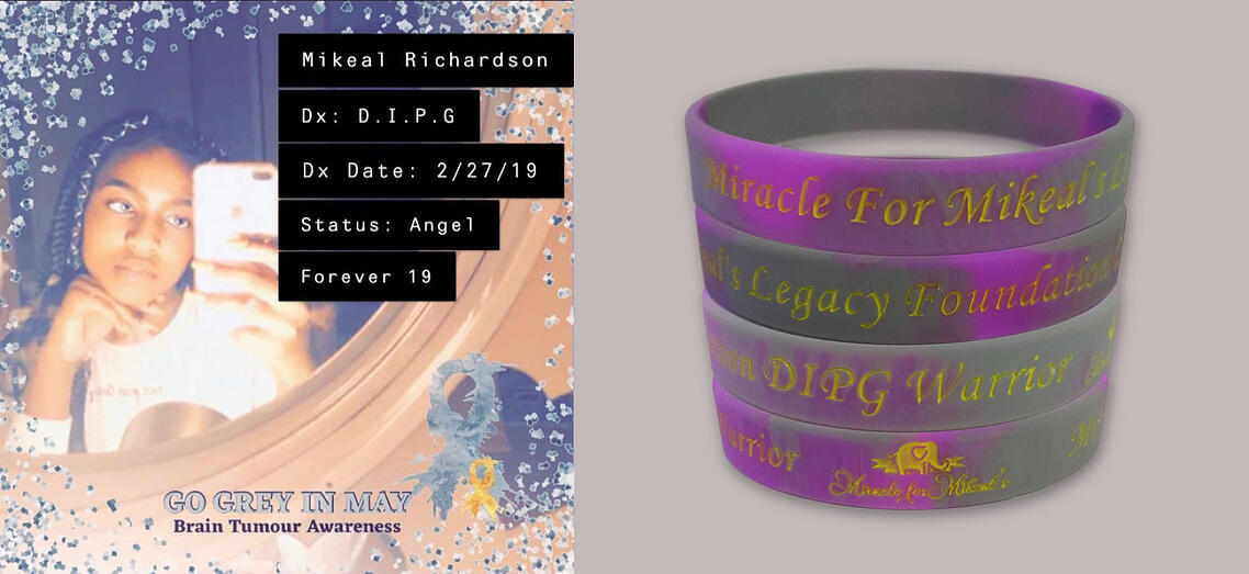 Mikeal DIPG Brain Cancer Wristbands Banner