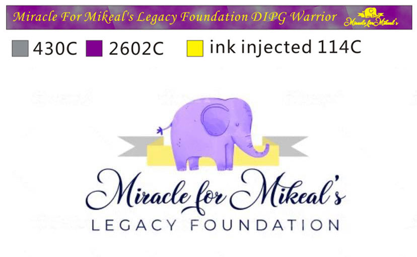 Miracle For Mikeal's Legacy Foundation Wristbands Design