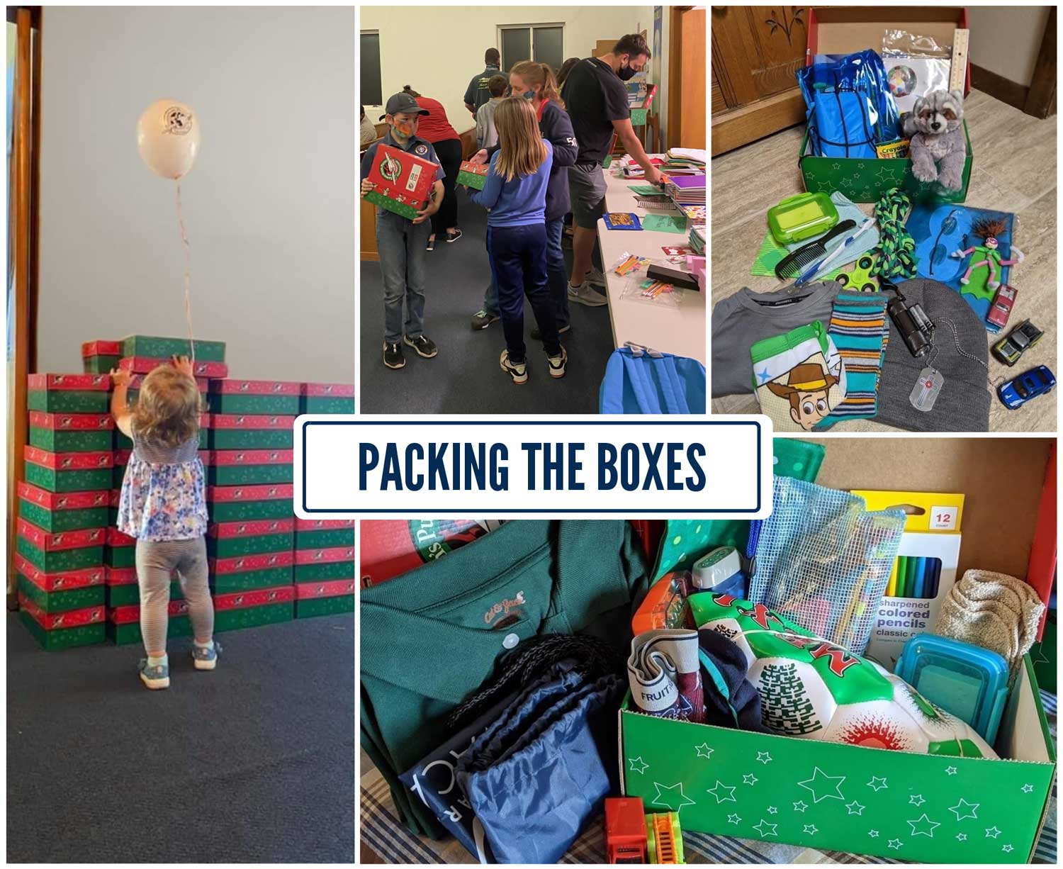 Packed Shoeboxes Collage