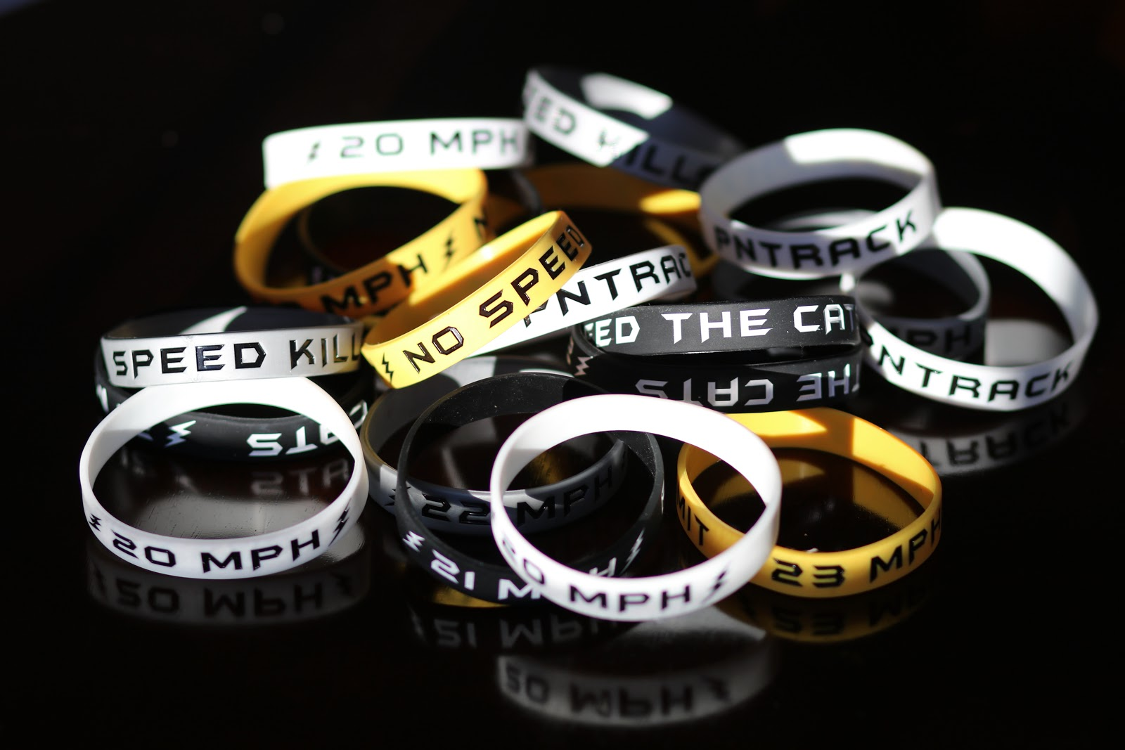 Pile of MPH Wristbands
