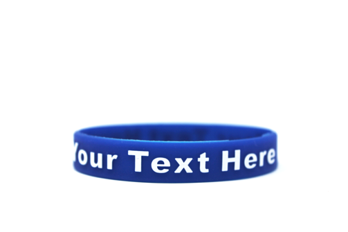 Blue wristband that represents Police Awareness.