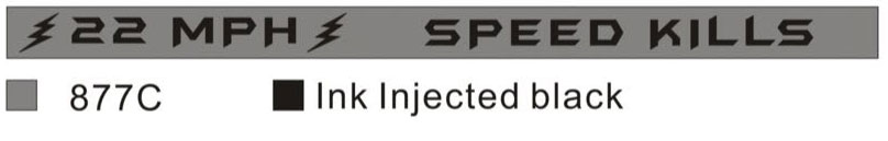 Silver 22 MPH Wristbands Speed Kills