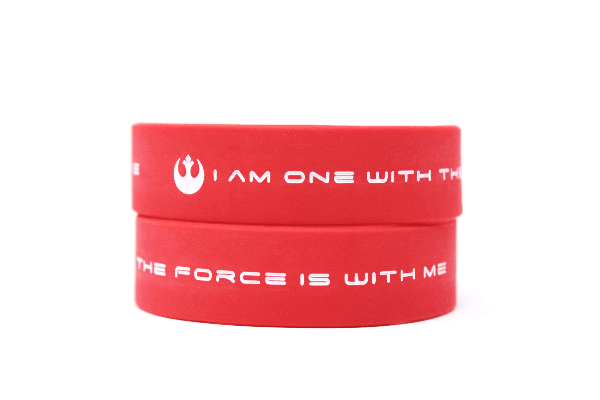 I am one with the Force. The Force is with me wristbands
