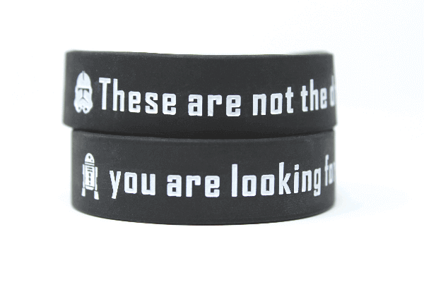 These are not the droids wristbands