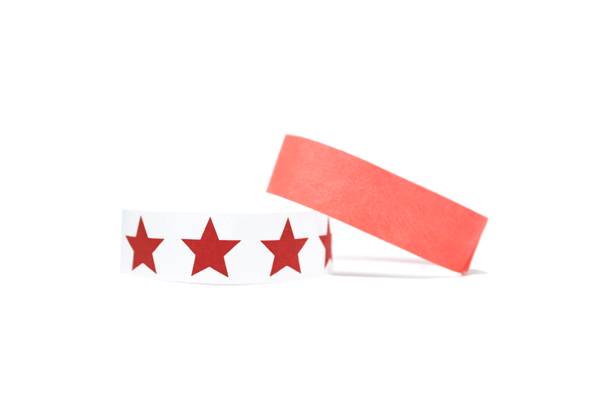 red tyvek wristbands