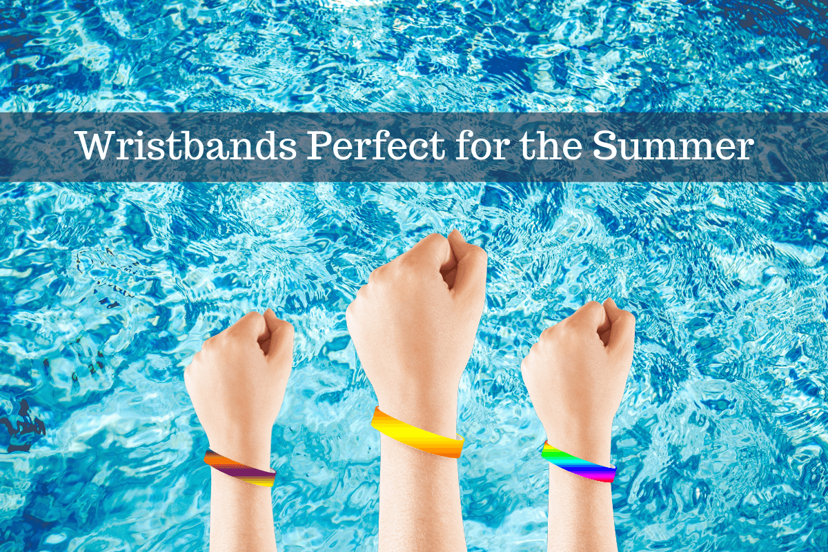 wristbands on top of pool background