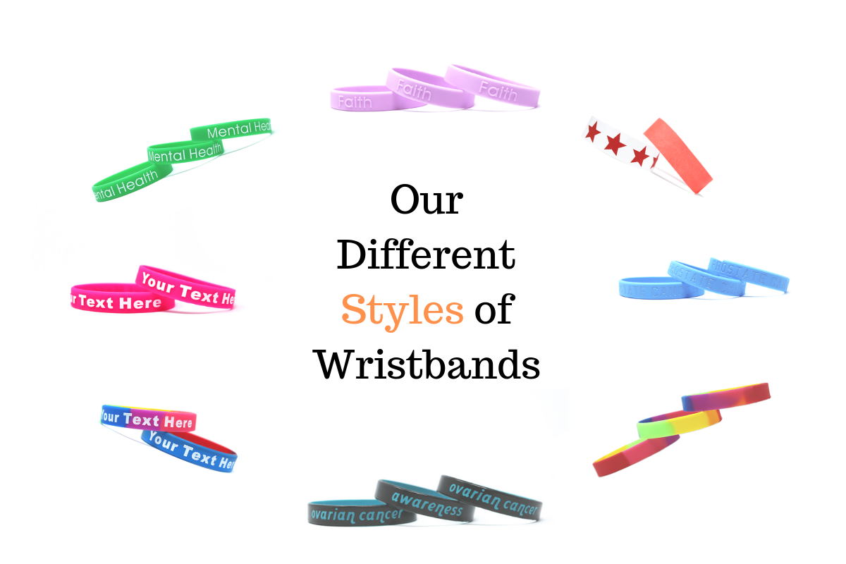 Our Different Styles of Wristbands