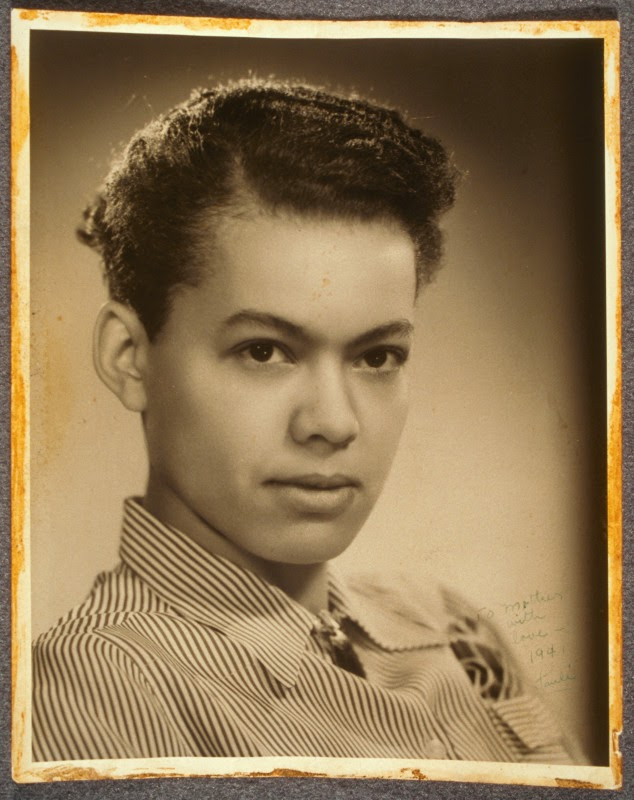 Photo of a young, masculine-looking Pauli Murray