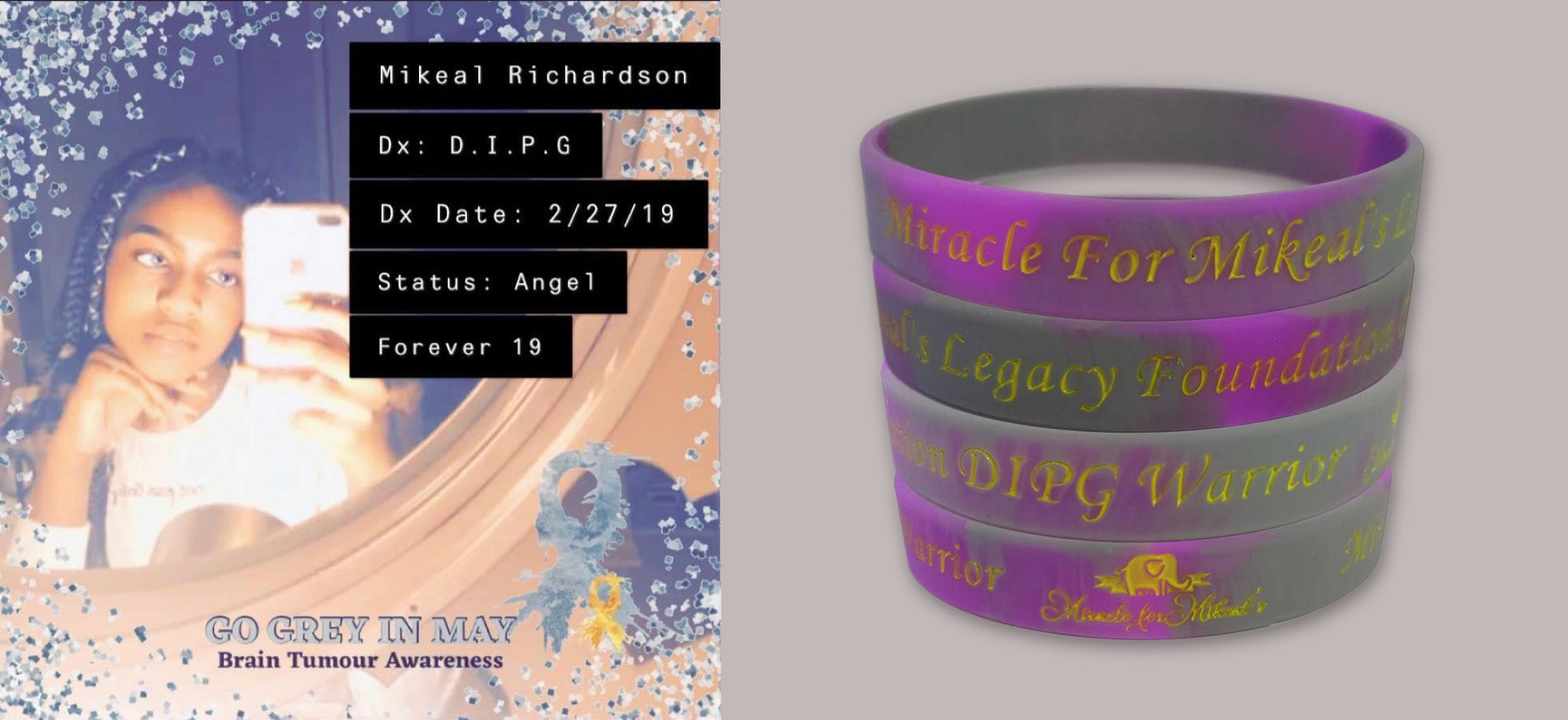 Miracle For Mikeal's Legacy Foundation Wristbands