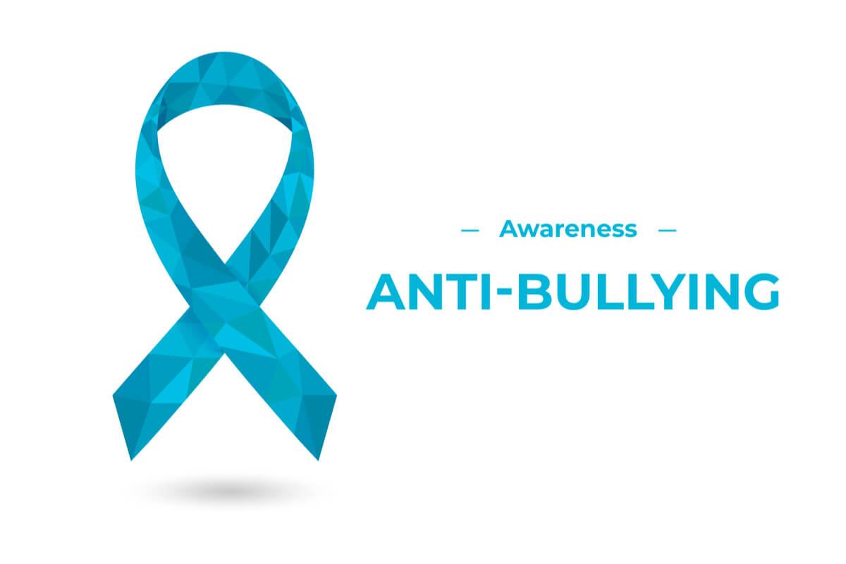 anti-bullying awareness blue ribbon